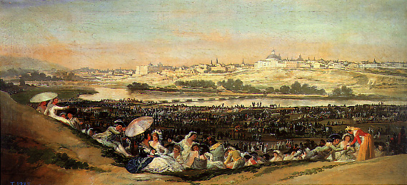 Pradera de San Isidro, de Goya