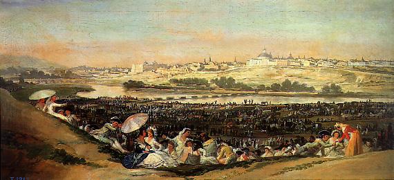 Pradera de San Isidro, de Goya